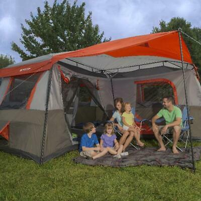 3 Room Cabin Tent Outdoor Camping Hiking Trail Canopy 12 Person Sleeping Shelter