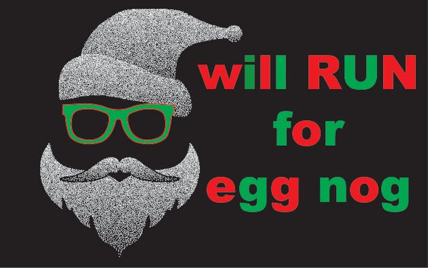 Santa Egg Nog - Screen Printed Velcro Patch