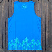 Technical Tank Top (Unisex) - Blue Palms
