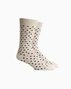 Confetti Sock - White Black