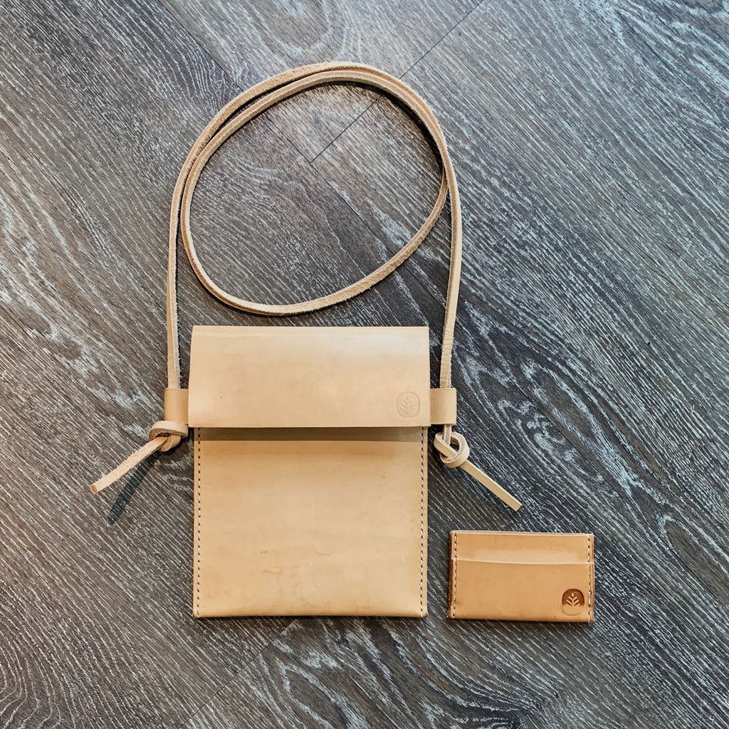 Leather Purse + Card Holder