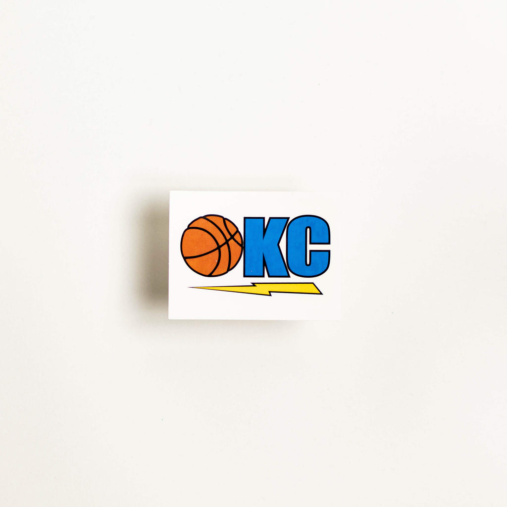 OKC Bball Sticker