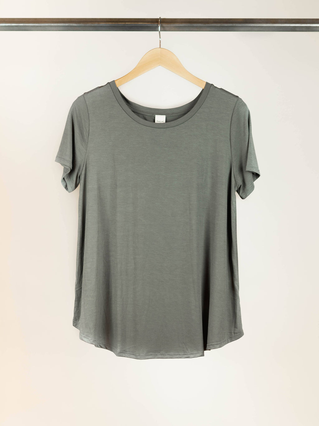 Bamboo Basic Tee - Dull Grey