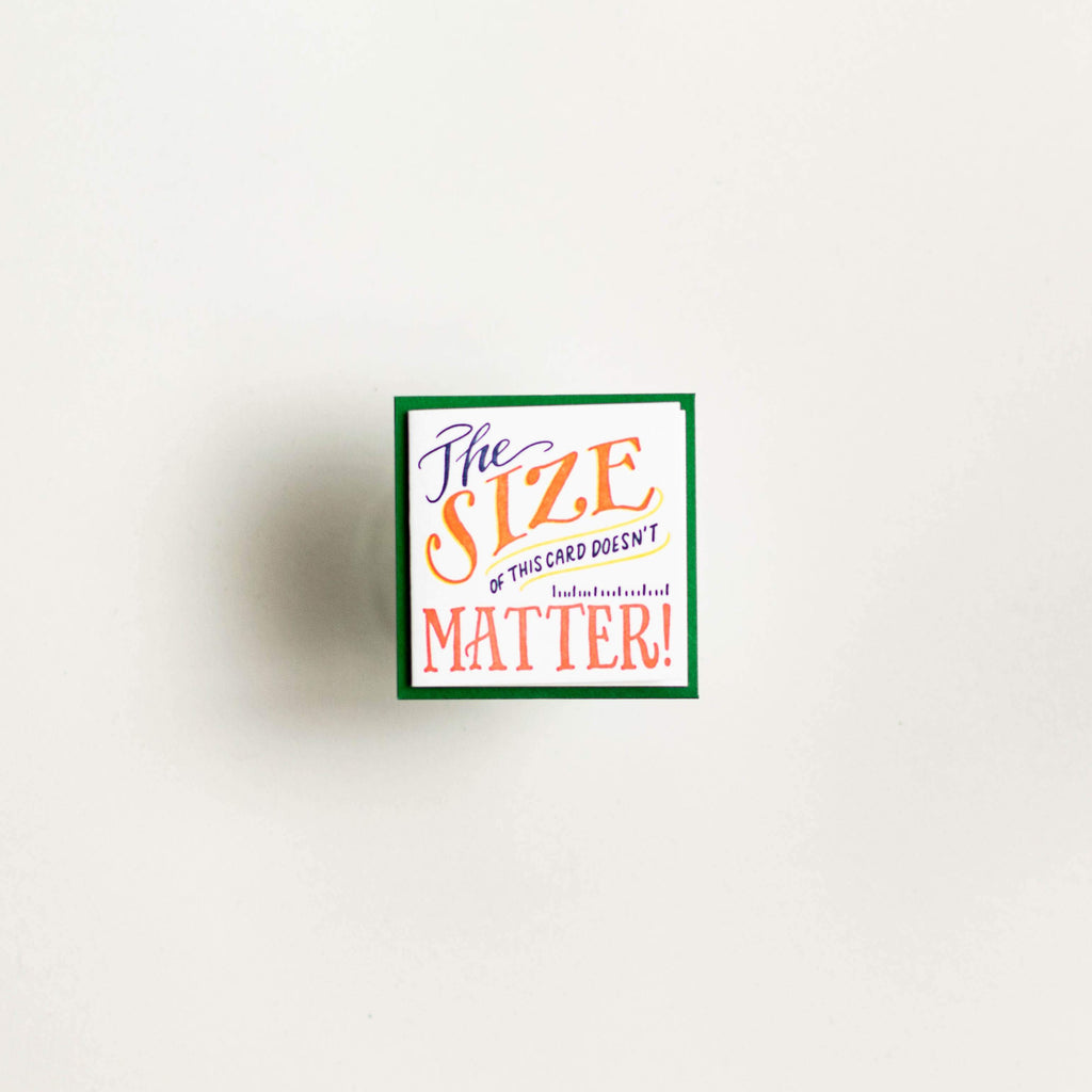 Size Matters - Tiny Card