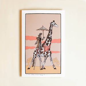 Single Giraffe Print