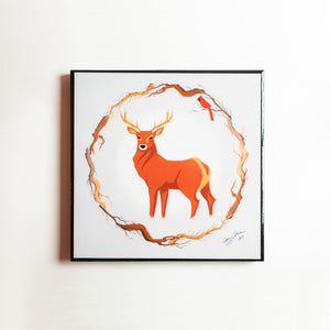 "Nature Art 12""x12"" - Deer"