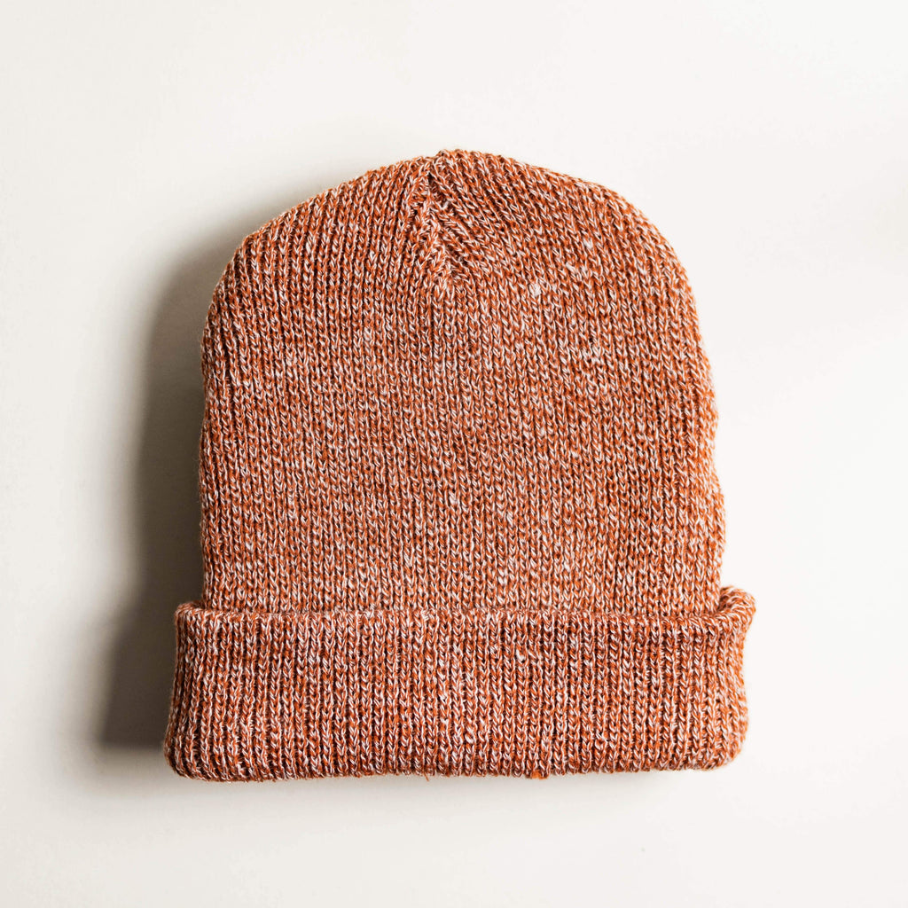 Mixed Acrylic Beanie - Salmon