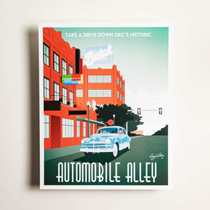 Automobile Alley - Large Print