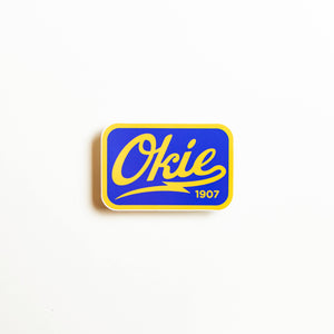 Okie Logo Sticker - Blue/Yellow