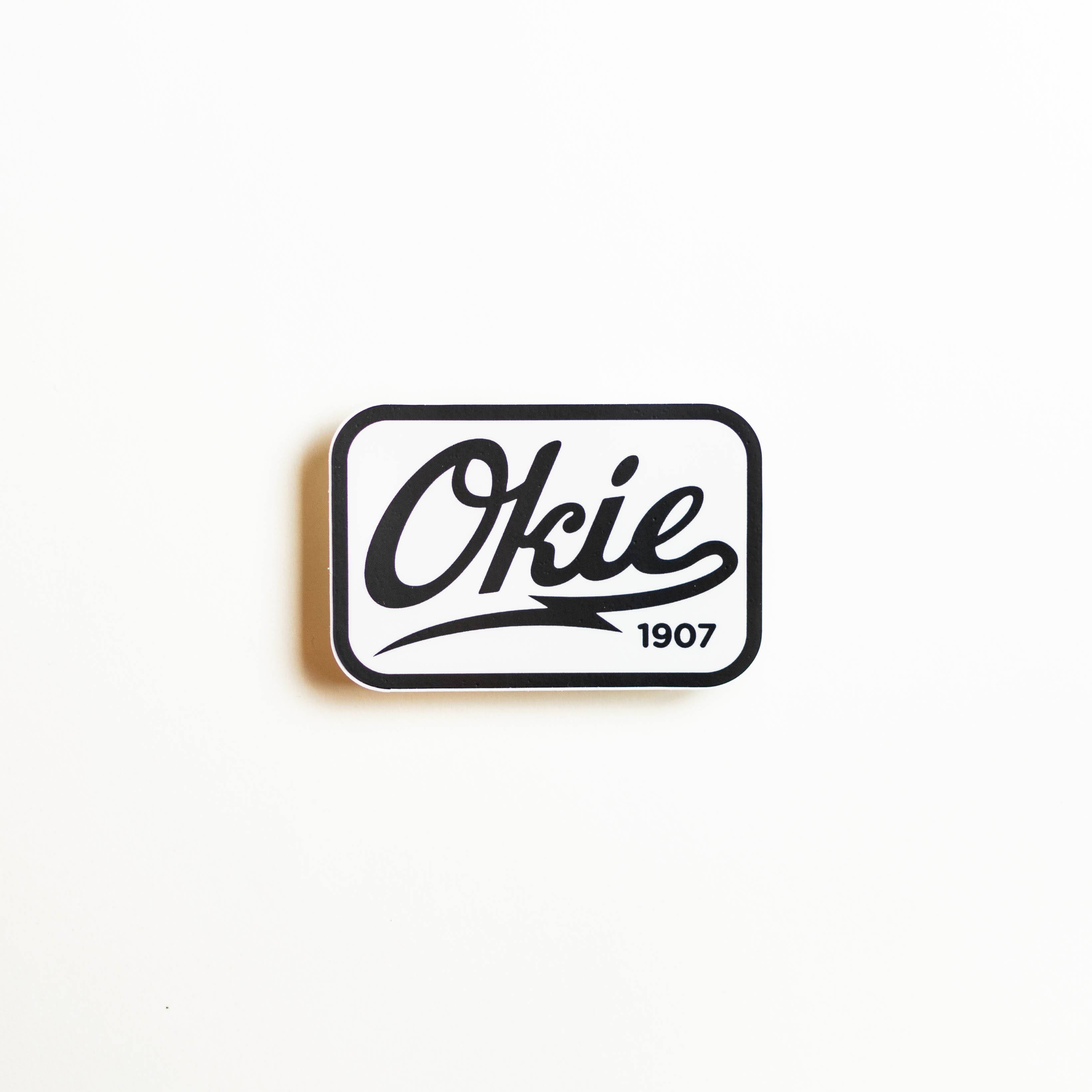 Okie Logo Sticker - Black/White