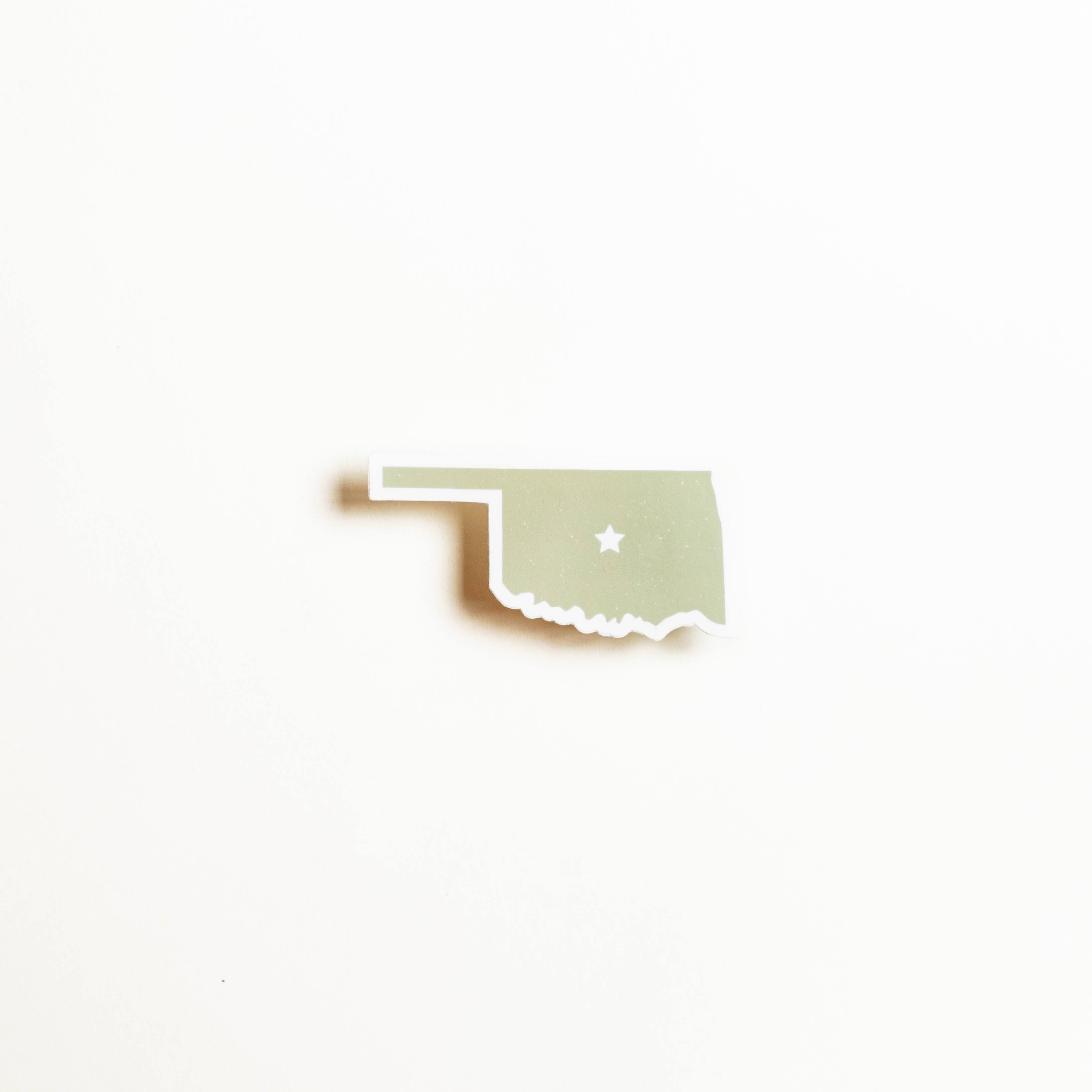 Oklahoma Shape Sticker - Prairie Green
