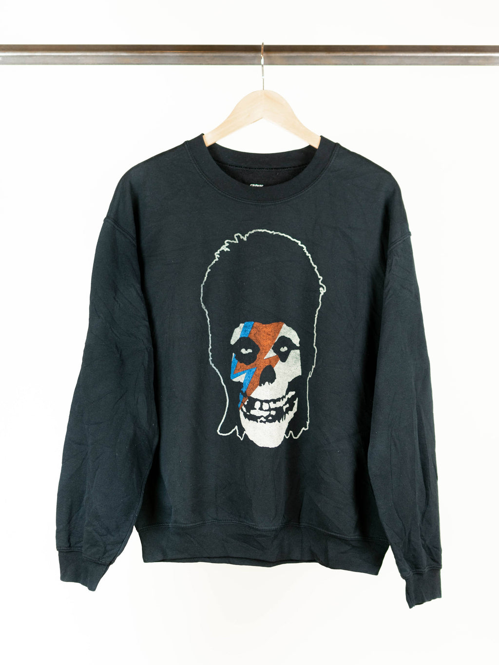 Rock Sweatshirts - Misfits - Bowie - Black