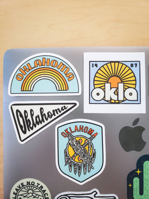 Oklahoma Rainbow Sticker
