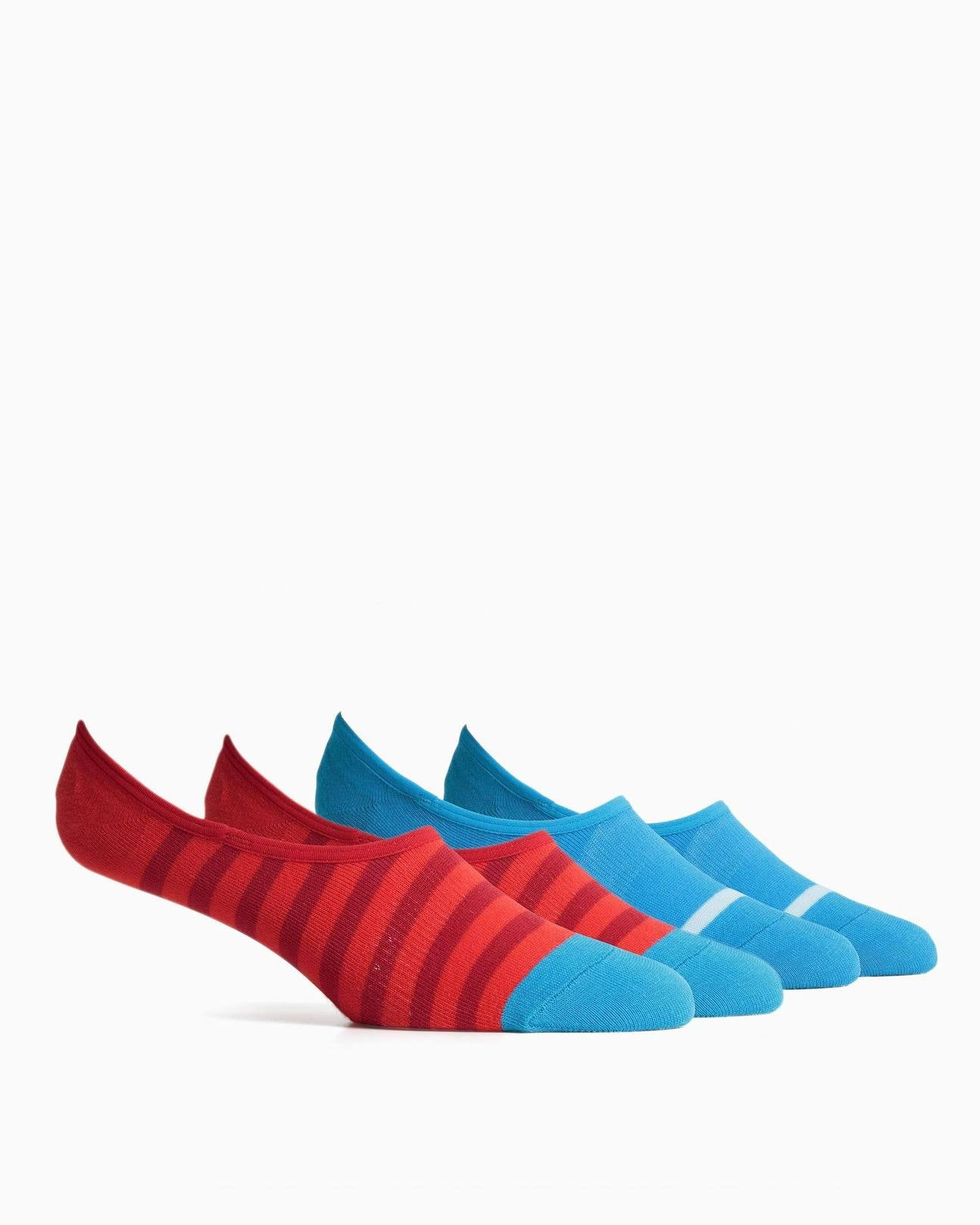 Theo Sock 2 Pack  - Blue / Red