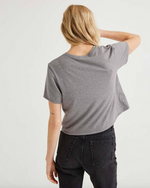 Boxy Crop Tee - Grey