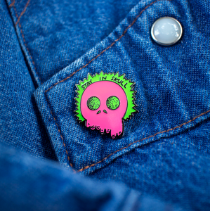Stay In Skull Pin