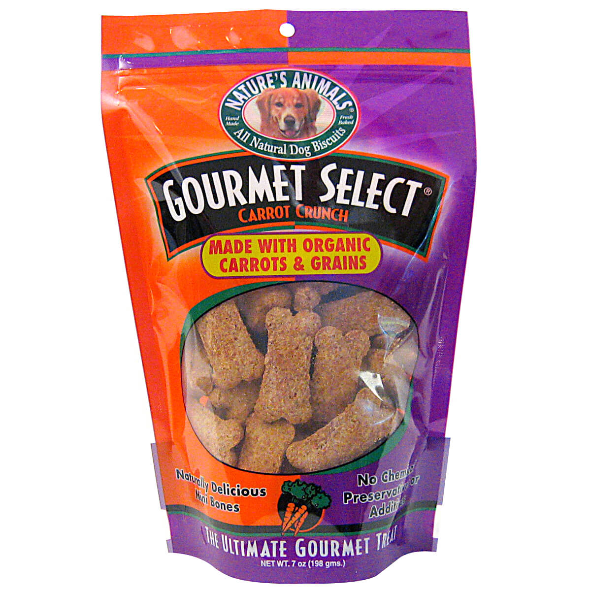 Natures Animals Gourmet Select Organic Mini Bones - All Natural, Bakery Fresh, USA Made Dog Treats