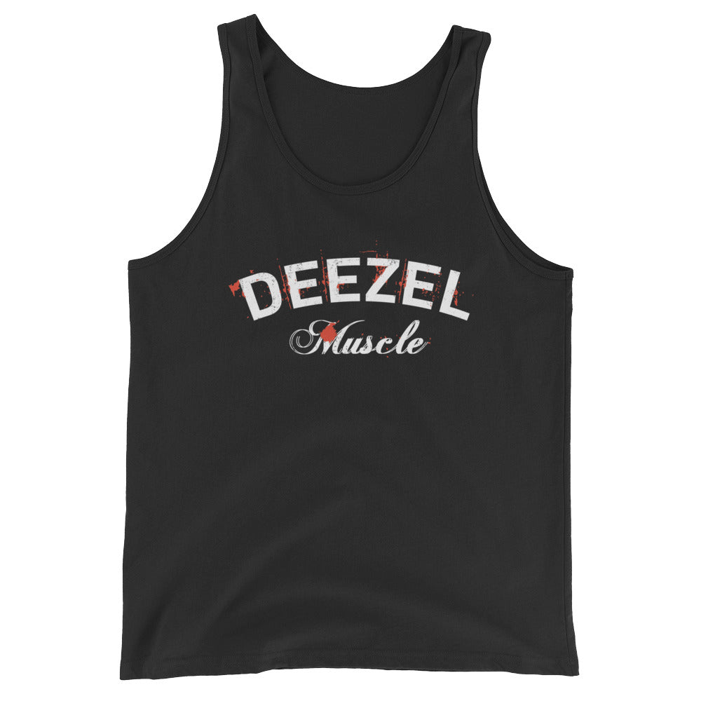 Deezel Black and White Tank Top