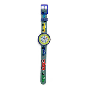 Kids Time Teaching Boys Watch (Cool Cars).  Easy to read and teach time telling. Cute design perfect for gift and birthdays.  Tell Time Fun.  Learn to Tell Time.