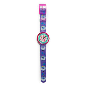 Kids Time Teaching Girl's Watch (Sassy Sheep).  Easy to read and teach time telling. Cute design perfect for gift and birthdays.  Tell Time Fun.  Learn to Tell Time.