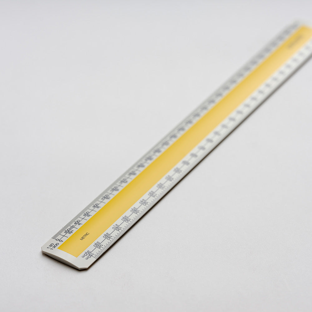 No.3 300mm Verulam architects (RIBA) oval scale ruler