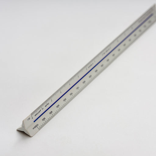 No.0 300mm Verulam architects triangular scale ruler