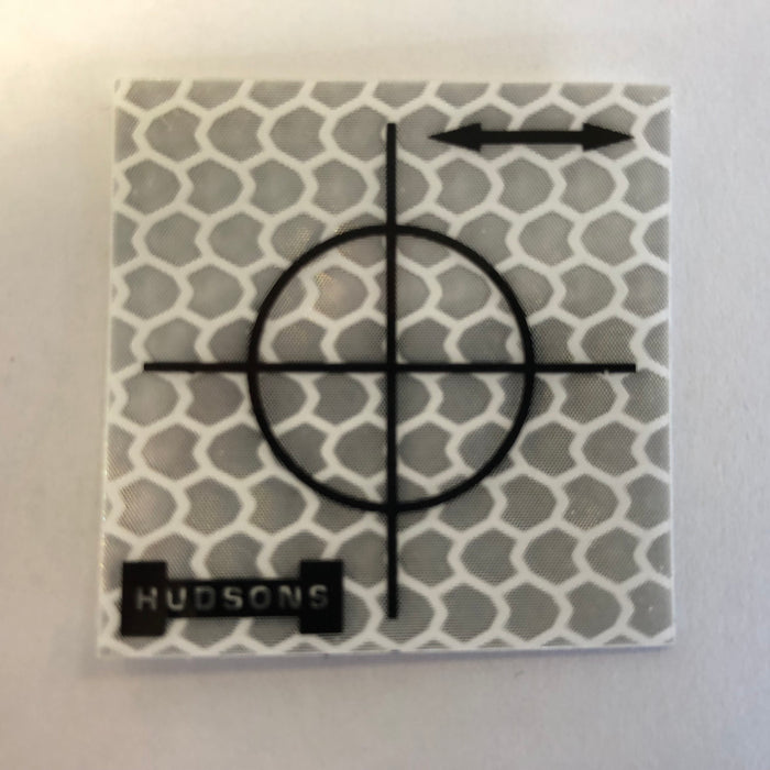 Hudsons White 30 mm Retro Targets