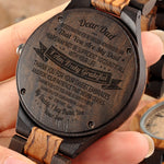 Son To Dad - I Am Truly Grateful - Wooden Watch