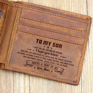 Mom To Son - You're A Part Of Me - Bifold Wallet