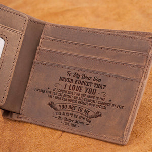 Dad To Son - I Will Always Be With You - Bifold Wallet