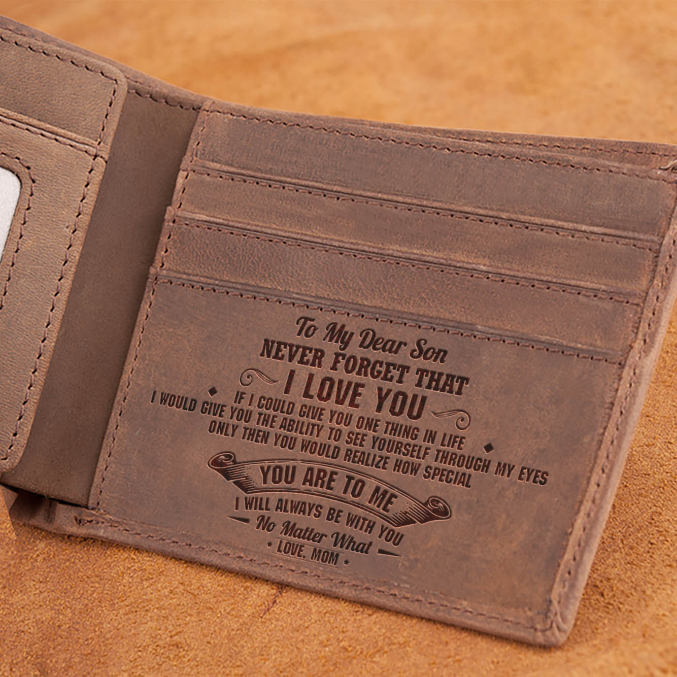Mom To Son - Never Forget That I Love You - Bifold Wallet