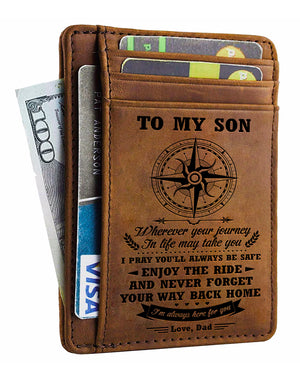 Dad To Son - I'm Always Here For You - Card Wallet