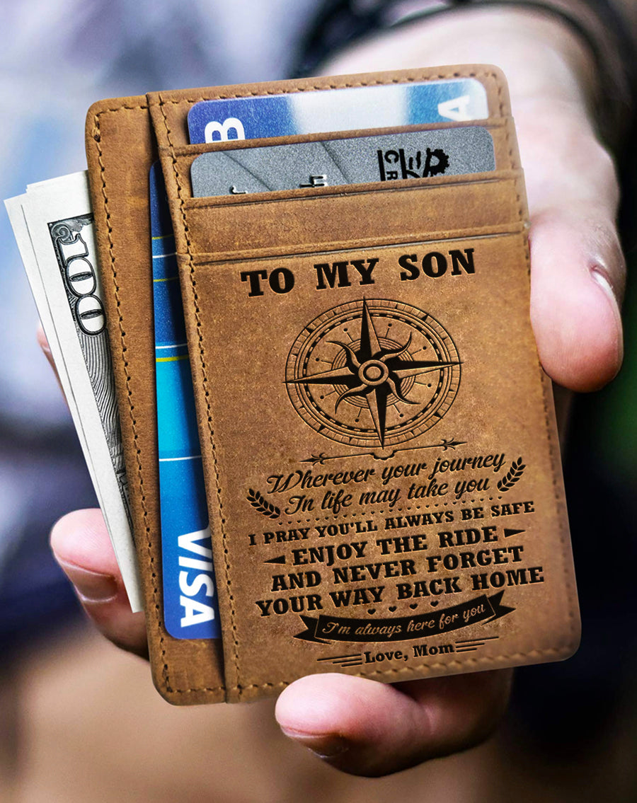Mom To Son - I'm Always Here For You - Card Wallet