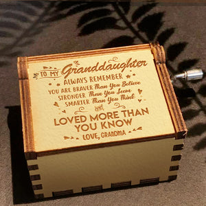 Grandma To Granddaughter - You Are Loved More Than You Know - Engraved Music Box 2
