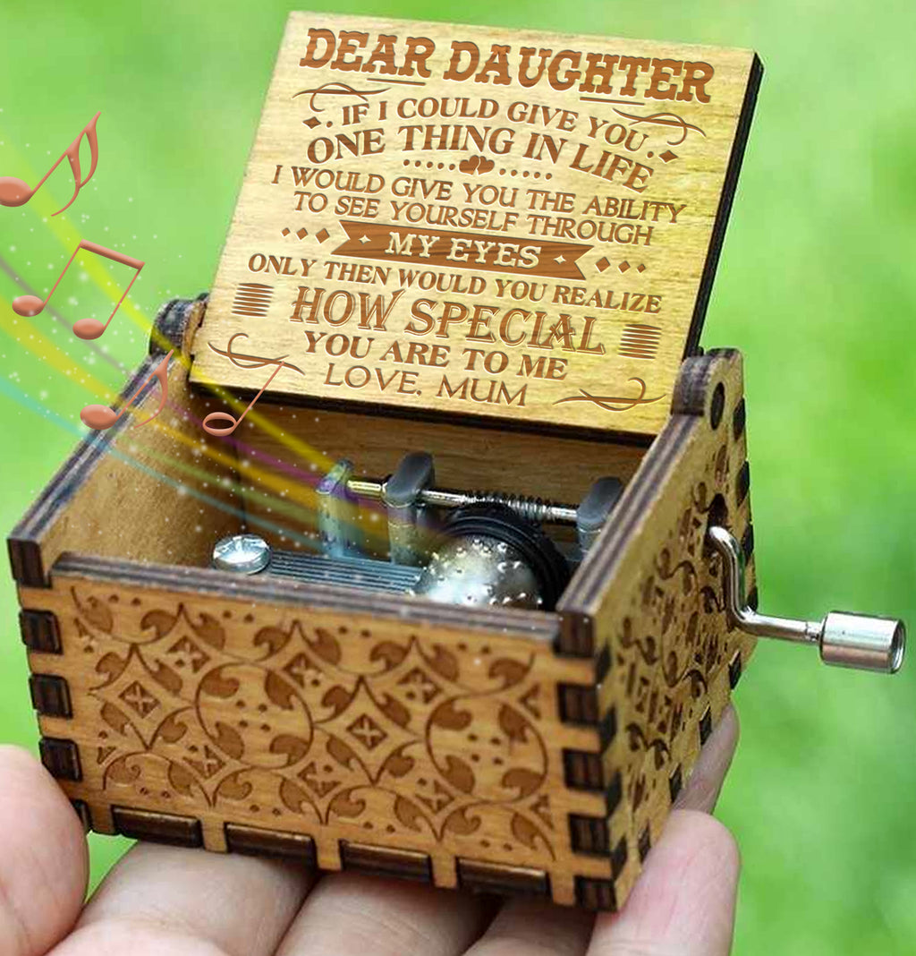 Mum To Daughter - How Special You Are To Me - Engraved Music Box