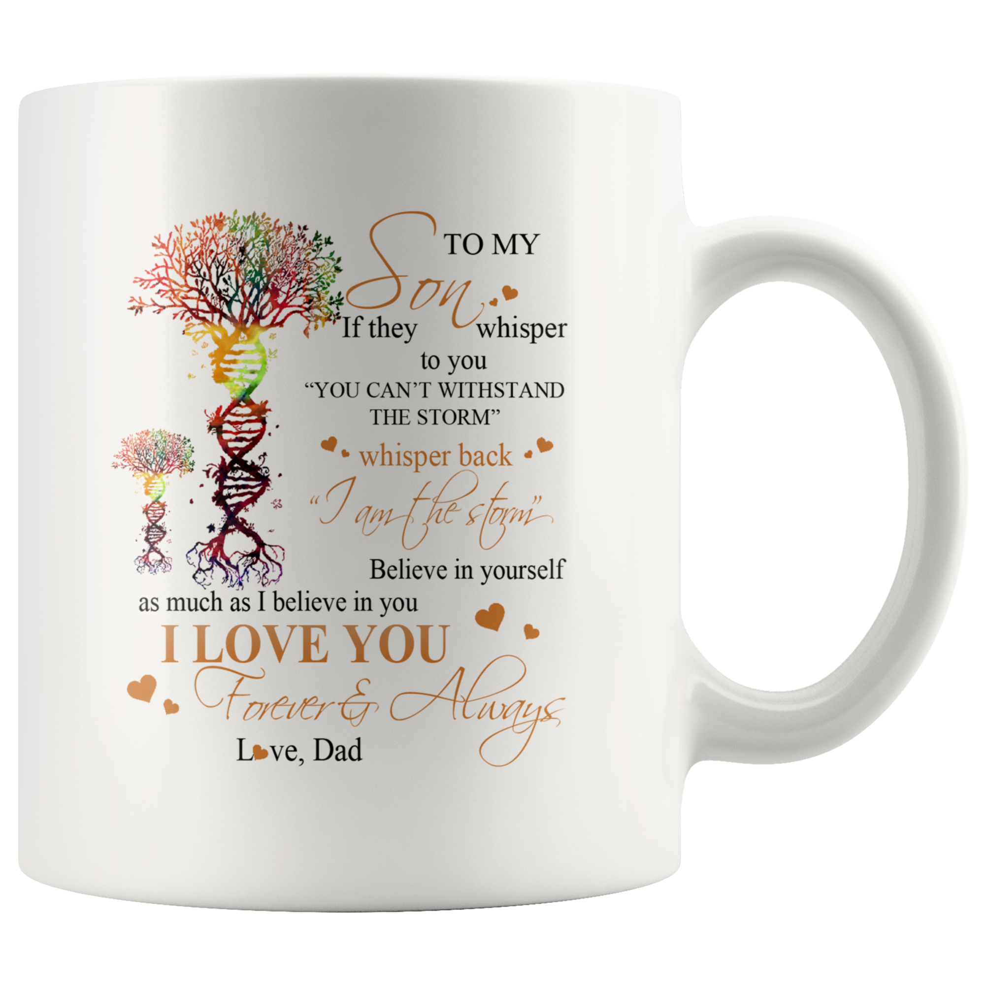 Family Mug To Son And Grandson - I Love You - 11oz White Mug