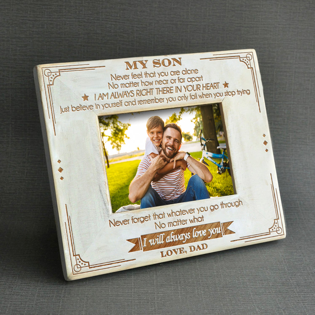 Dad To Son - I Will Always Love You - Wood Frame