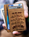 From Daughter To Dad - I Need To Say I Love You - Card Wallet