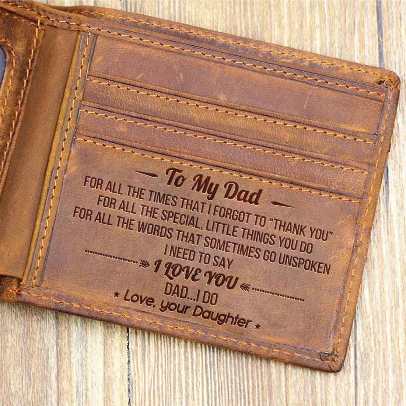 From Daughter To Dad - I Need To Say I Love You - Bifold Wallet