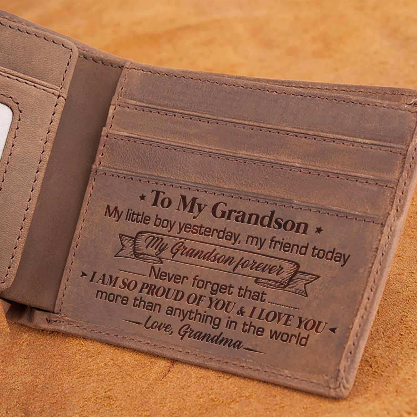 Grandma To Grandson - I Love You More Than Anything In The World - Bifold Wallet