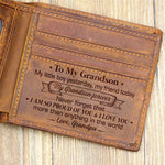 Grandpa To Grandson - I Love You More Than Anything In The World - Bifold Wallet