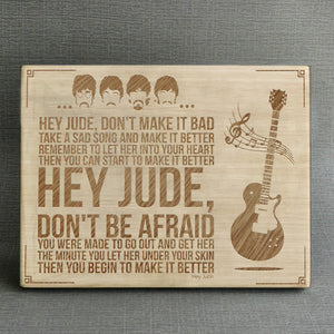 The Beatles Fan - Hey Jude - Engraved Wooden Picture