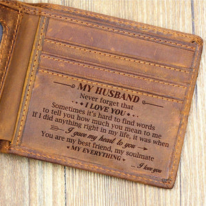 To My Husband You Are My Everything Bifold Wallet Quartzily