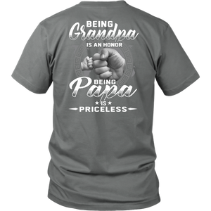 Quartzily - Being Papa Is Priceless - Men T-shirt Plus Size