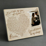 Can't Take My Eyes Of You - Engraved Wooden Picture