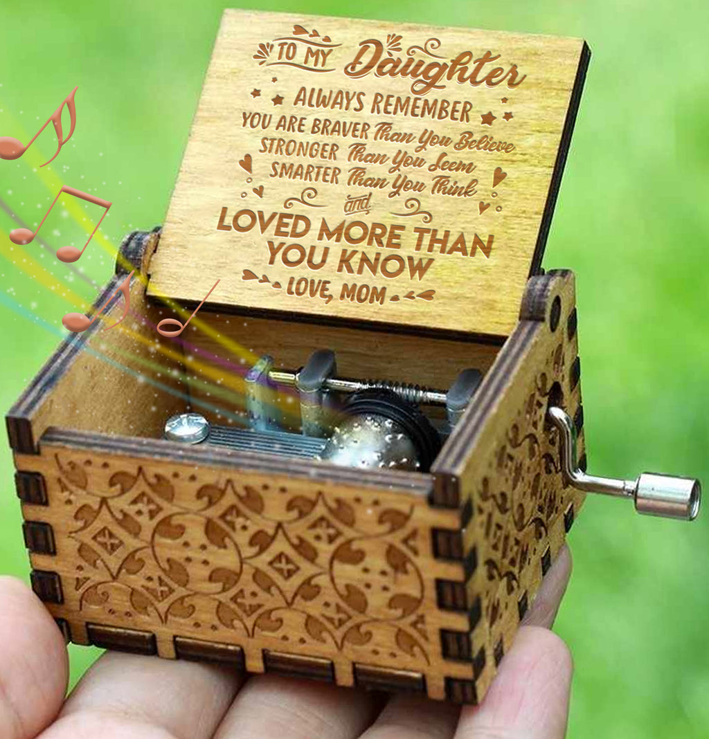 Mom To Daughter - Always Remember - Engraved Music Box
