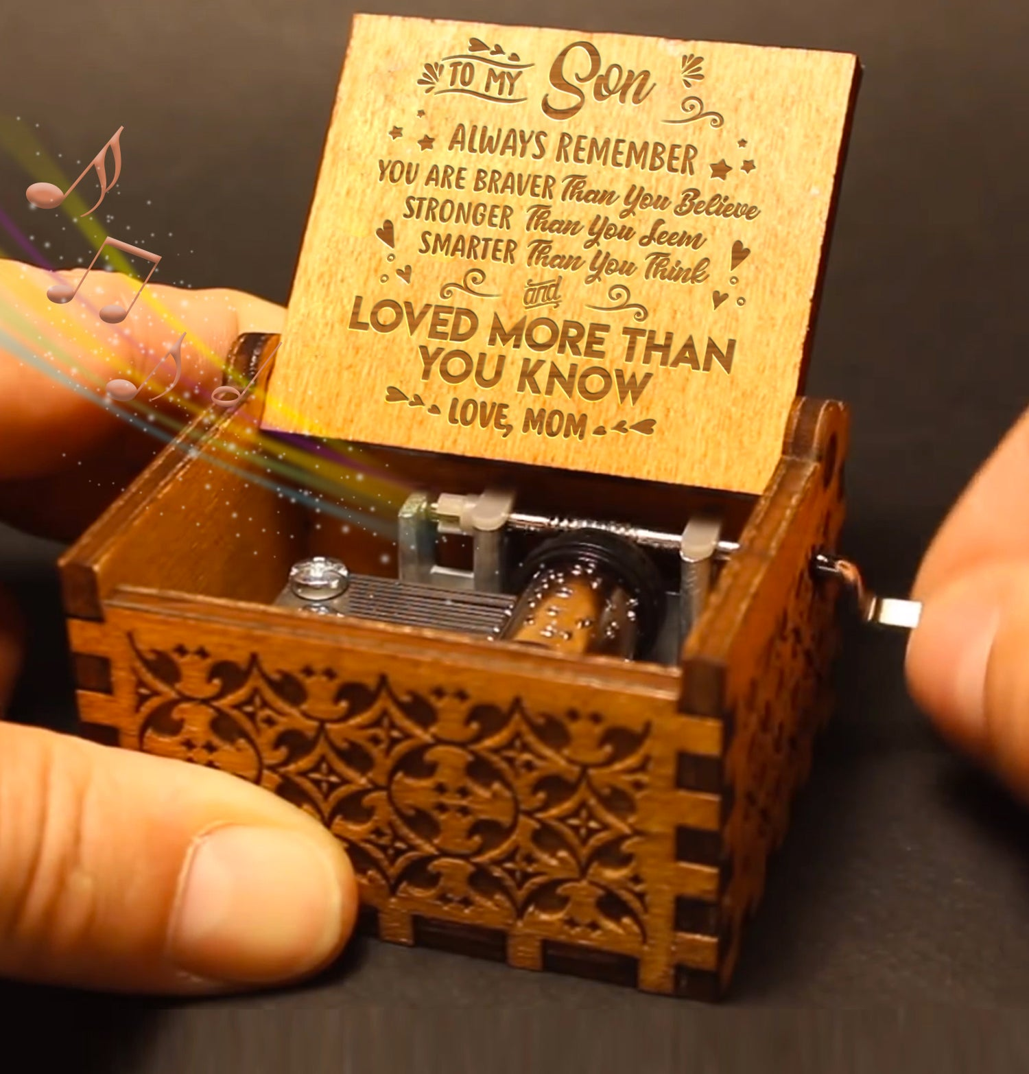 Mom To Son - You Are Loved More Than You Know - Engraved Music Box