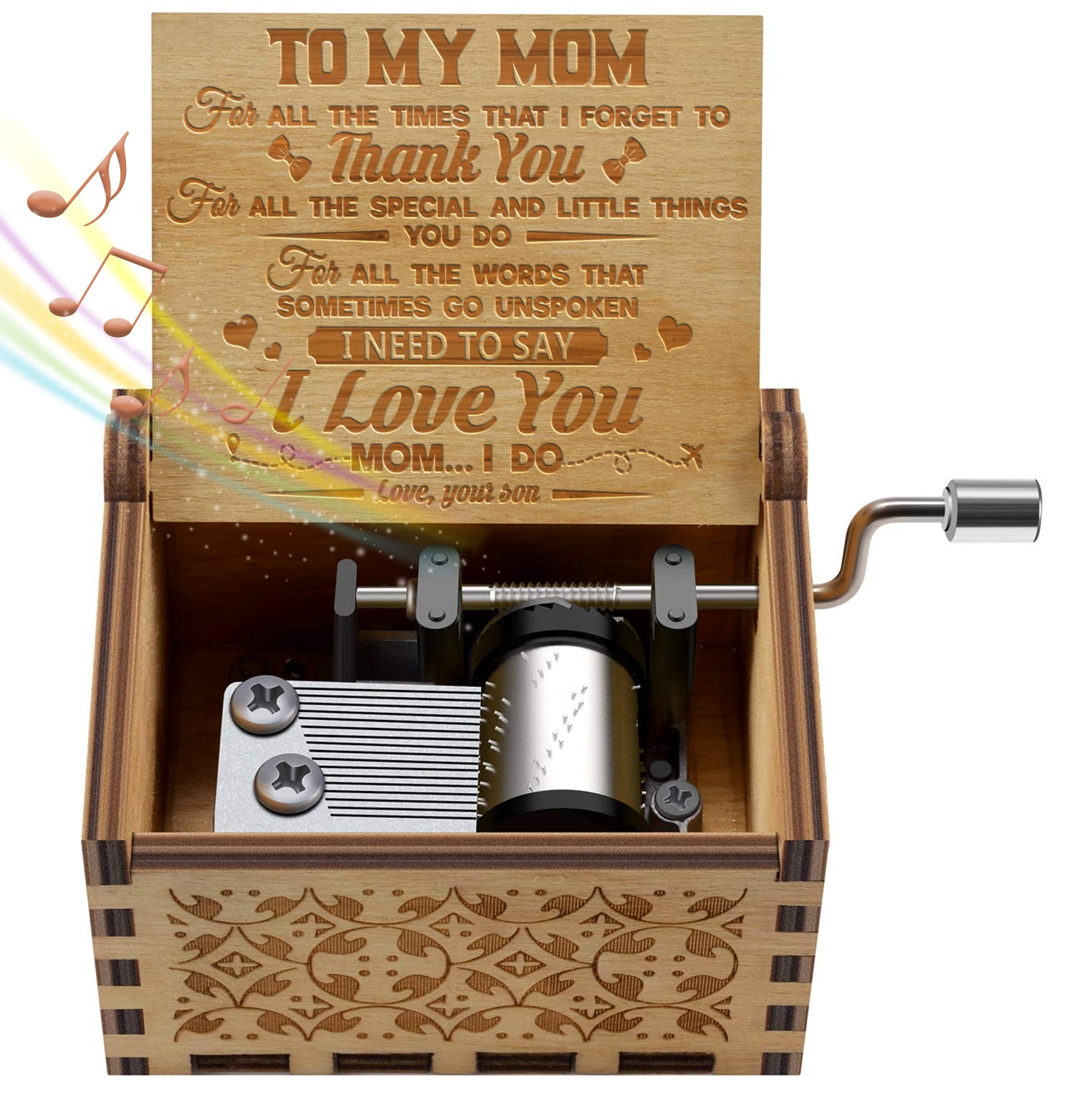 Son To Mom - I Need To Say I Love You - Engraved Music Box
