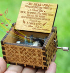 Daughter To Mom - Mom I Do - Engraved Music Box