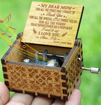 Son To Mom - Mom I Do - Engraved Music Box
